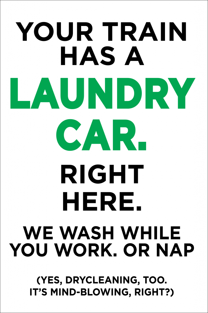 Image of Drop N Lock Laundry Car Graphic by Steve Price Art Inc.