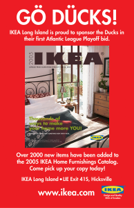 Image of IKEA/Atlantic league Baseball ad designed by Steve Price