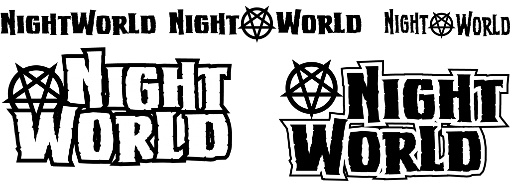 Sixth draft of logo for Image Comics' NIGHTWORLD
