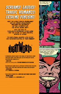Image of NIGHTWORLD #1's Back Cover