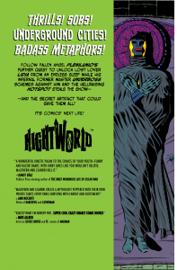 Image of Back Cover Design by Steve Price for Image Comics' NIGHTWORLD #2