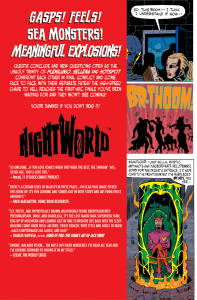 Picture of Back Cover designby Steve Price for Image Comics Nightworld # 4