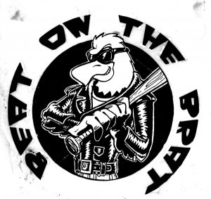 Image of original art for the RAMONES Beat on the Brat T-shirt by Steve Price